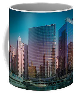 Summer Sunset In Chicago Downtown  Coffee Mug