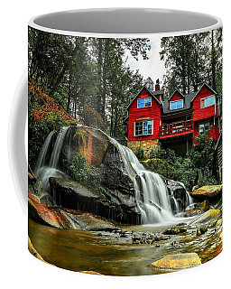 Summer Time At Living Waters Ministry And Shoals Creek Falls Coffee Mug