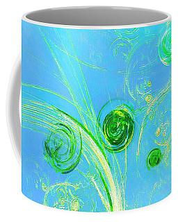 Coffee Mug featuring the painting Summer Tree Of Life by Menega Sabidussi