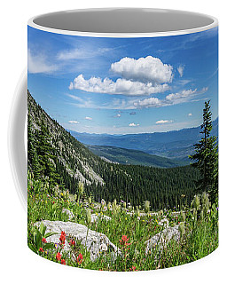 Summer Wildflowers On Big White Coffee Mug