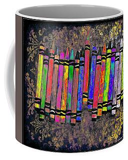 Coffee Mug featuring the digital art Summer's Crayon Love by Iowan Stone-Flowers