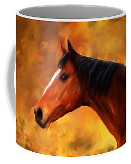 Summers End Quarter Horse Painting Coffee Mug