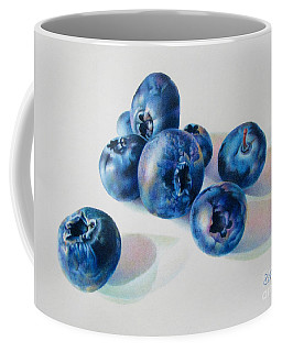 Coffee Mug featuring the painting Summertime Blues by Pamela Clements