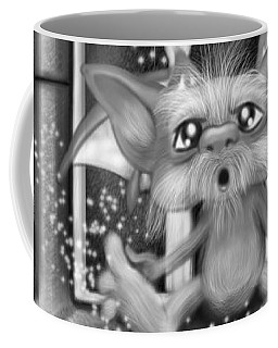 Summoned Pet - Black And White Fantasy Art Coffee Mug