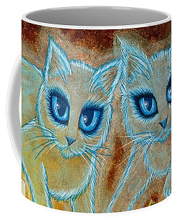 Summoning Old Friends - Ghost Cats Magic Coffee Mug