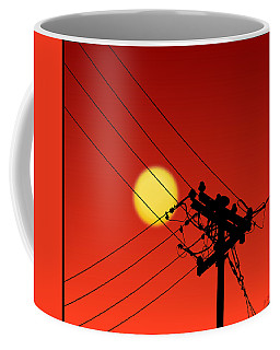 Sun And Silhouette Coffee Mug