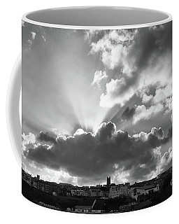 Coffee Mug featuring the photograph Sun Beams Over Church by Nicholas Burningham