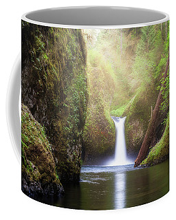 Sun Beams Over Punch Bowl Falls Coffee Mug