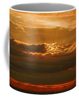 Sun Behind Dark Clouds In Vogelsberg Coffee Mug