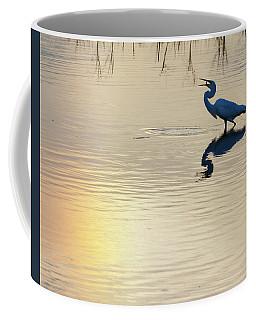 Sun Dog And Great Egret 1 Coffee Mug