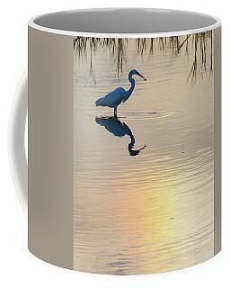 Sun Dog And Great Egret 2 Coffee Mug