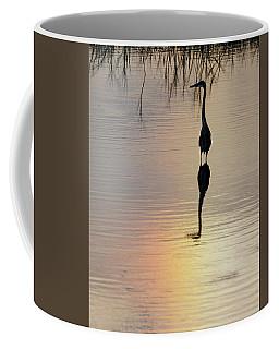 Sun Dog And Great Blue Heron 1 Coffee Mug