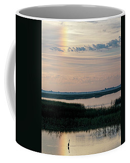 Sun Dog And Great Blue Heron 2 Coffee Mug