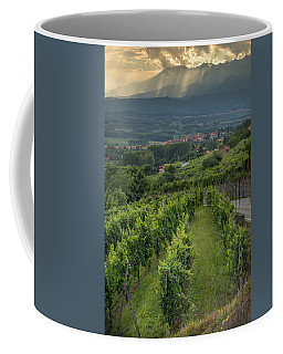 Sun Filtering Through The Clouds  Coffee Mug
