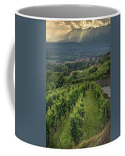 Sun Filtering Through The Clouds  Coffee Mug