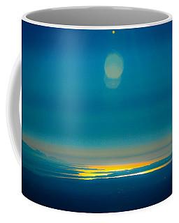 Sun Going Down On The Sound Coffee Mug