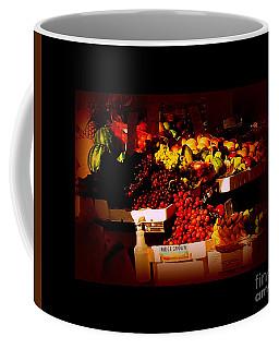 Sun On Fruit - Markets And Street Vendors Of New York City Coffee Mug by Miriam Danar