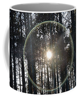 Sun Or Lens Flare In Between The Woods -georgia Coffee Mug
