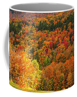 Coffee Mug featuring the photograph Sun Peeking Through by Jeff Folger
