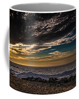 Sun Peeks Through Coffee Mug