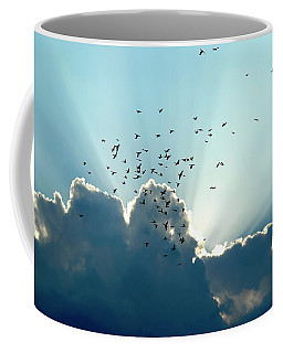 Sun Ray Aerobatics Blue Sky Coffee Mug