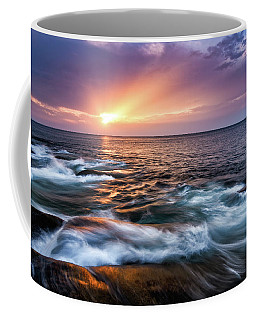 Coffee Mug featuring the photograph Sun Rays, Halibut Pt. Rockport Ma. by Michael Hubley