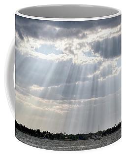 Sun Rays Over Lagoon Coffee Mug