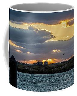 Sun Rays Over The Intracoastal  Coffee Mug by Nance Larson