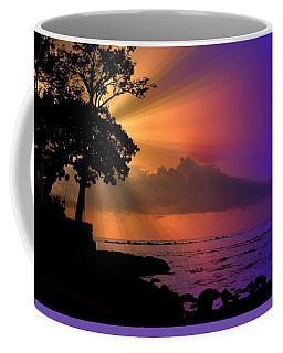 Coffee Mug featuring the photograph Sun Rays Sunset by Lori Seaman