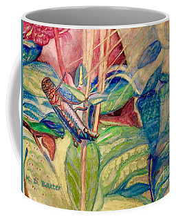 Sun Salutations To A Grasshopper  Coffee Mug