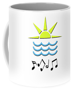 Sun, Sea And Music Coffee Mug by Linda Prewer