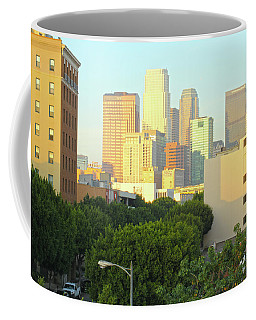 Sun Sets On Downtown Los Angeles Buildings #1 Coffee Mug