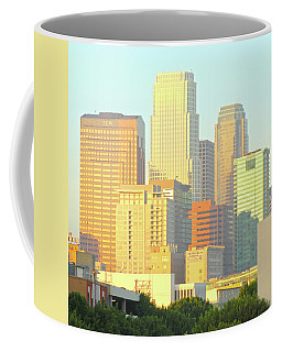 Sun Sets On Downtown Los Angeles Buildings #2 Coffee Mug