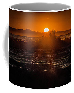 Sun Setting Behind Santa Cruz Island Coffee Mug