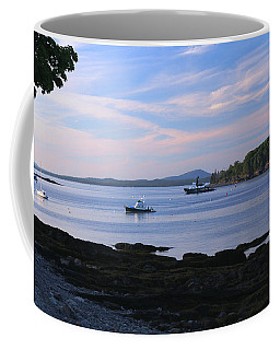 Sun Setting On The Harbor Coffee Mug by Living Color Photography Lorraine Lynch