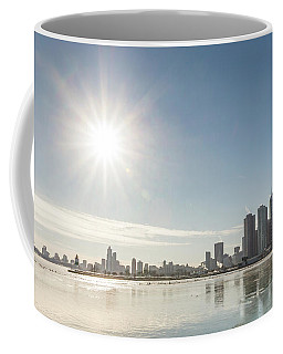 Sun Setting Over Chicago Coffee Mug