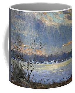 Sun Setting Over The Niagara River Coffee Mug