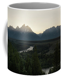 Coffee Mug featuring the photograph Sun Setting Over The Teton Range by James Udall