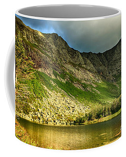 Sun Shining On Chimney Pond  Coffee Mug by Elizabeth Dow