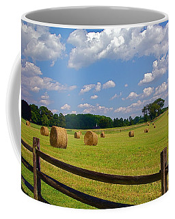 Coffee Mug featuring the photograph Sun Shone Hay Made by Byron Varvarigos