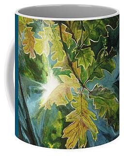 Sun Through Oak Leaves Coffee Mug