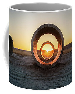 Coffee Mug featuring the photograph Sun Tunnel Solstice by James Udall
