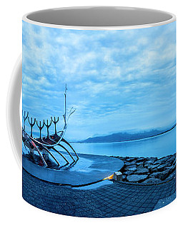 Sun Voyager Viking Ship In Iceland Coffee Mug