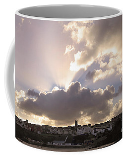 Sunbeams Over Church In Color Coffee Mug