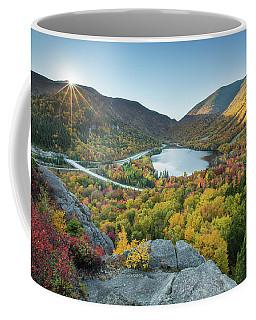 Sunburst Over Franconia Notch Coffee Mug