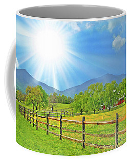 Sunburst Over Peaks Of Otter, Virginia Coffee Mug by The American Shutterbug Society