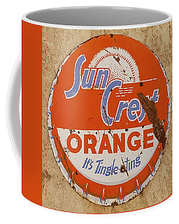 Suncrest Orange Soda Cap Sign Coffee Mug