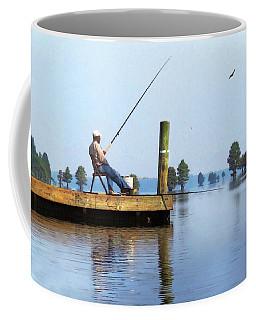 Sunday Fisherman Coffee Mug by Deborah Smith