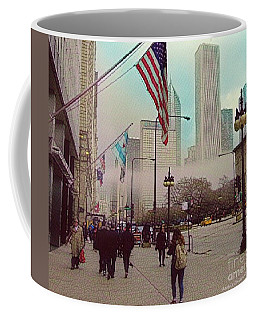 Sunday In The City Coffee Mug by Kathie Chicoine