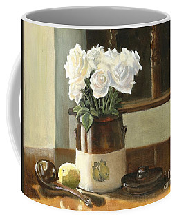 Sunday Morning And Roses - Study Coffee Mug by Marlene Book